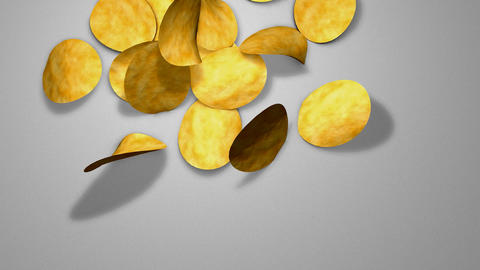 Potato chips Animation