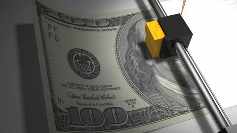 Printing the money concept animation Animation