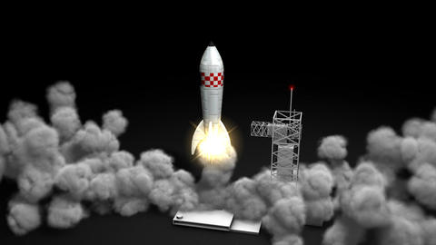 Rocket launching Animation