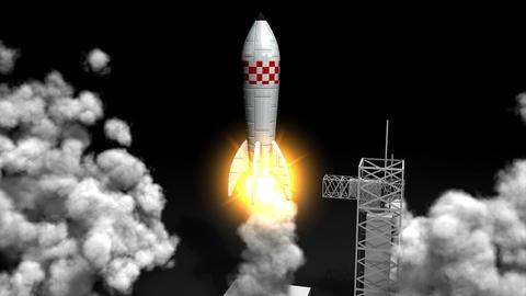 Rocket launching Animation