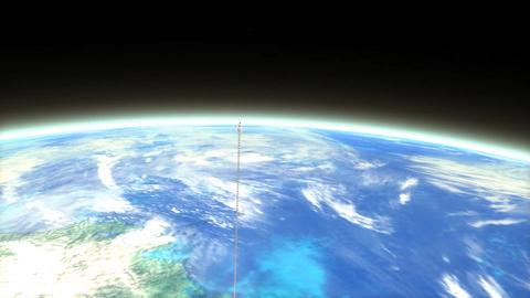 Space elevator Animation