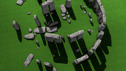 Stonehenge aerial view Animation