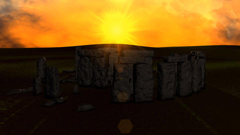 Stonehenge sunset Animation