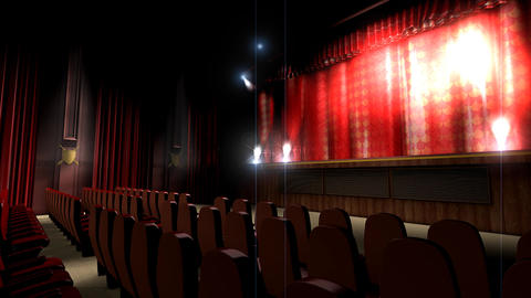 Theater Hall stock footage
