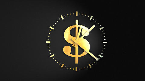 Time and money Stock Video Footage