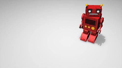 Toy Robot stock footage