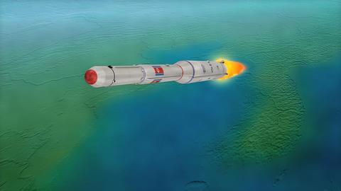 Unha-3 rocket Animation