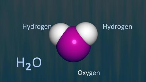 Water molecule Animation