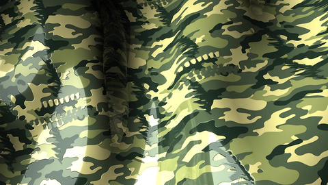 Waving Pattern Camouflage stock footage