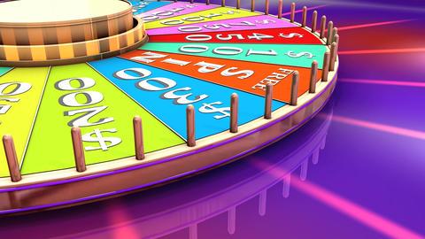 Show game wheel Animation