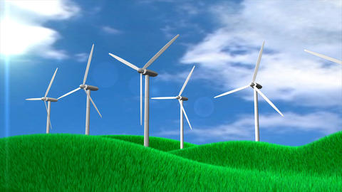 Windturbine stock footage