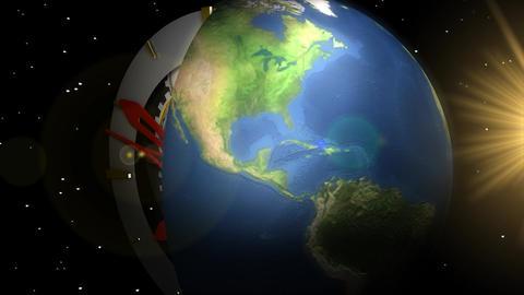 World time Animation