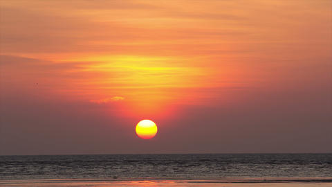 Sunrise Time Lapse Over Andaman Sea stock footage