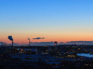 Following the Sun. Gothenburg, Sweden. Time Lapse. Footage