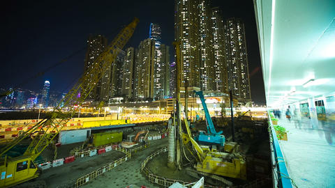 One Of Many Construction Sites. Timelapse stock footage