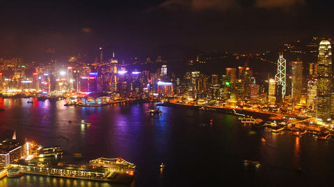 Skyscrapers in Hongkong. TimeLapse Footage