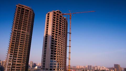 Building Under Construction Footage