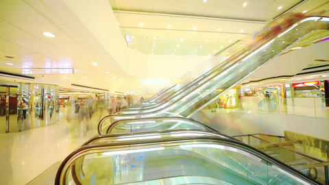 Shopping Mall In HongKong. Timelapse stock footage