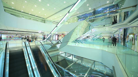 Shopping mall in HongKong. Timelapse Footage