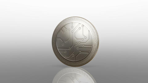 Digital Currency Silver Coin