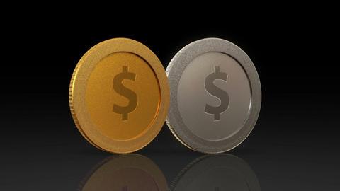 dollar currency coin exchange dark merge Animation