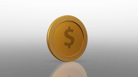dollar currency gold coin exchange Animation