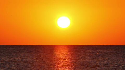 beauty landscape with sunrise over sea Footage