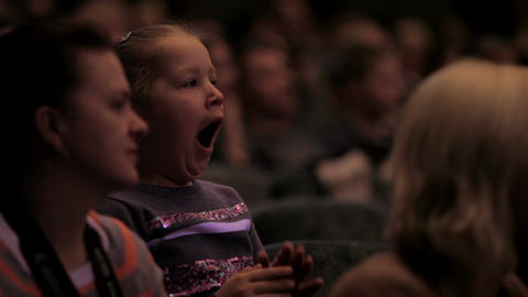 Bored Girl In The Auditorium stock footage