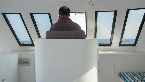 Driving a yacht Footage