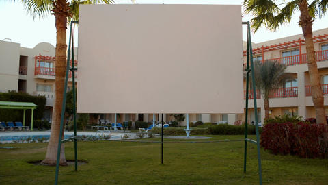Blank screen on resort Footage