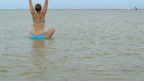 Yoga in the water Footage