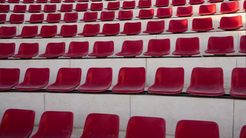 Empty red seats in amphitheater Footage