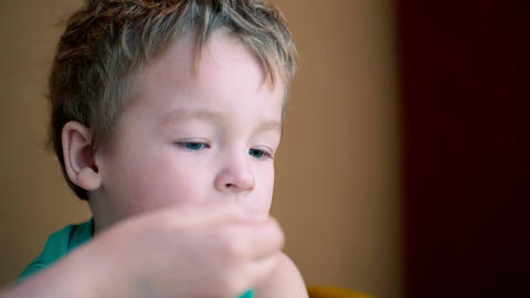 Feeding The Little Boy stock footage