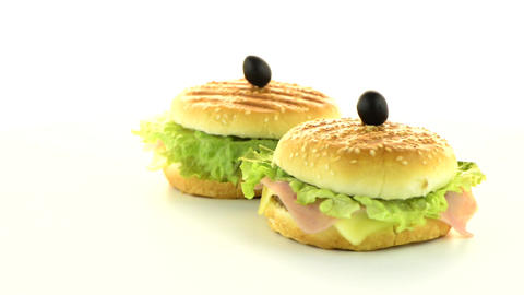 Hamburgers stock footage