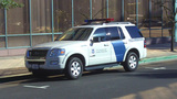 U S Customs And Border Protection Truck In City stock footage