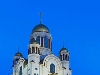 Church on Blood. Ekaterinburg, Russia. Time Lapse. Footage