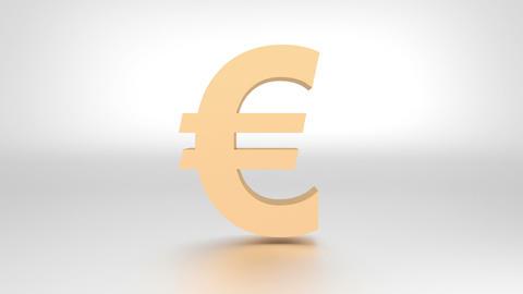 Falling apart euro symbol Animación