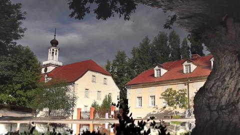 German village like a mirage Footage