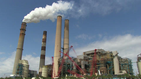 Coal Powerplant wide Footage