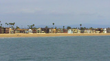 Beach Houses Homes Seal Beach CA stock footage