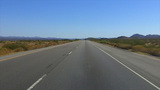 California Mojave Desert Highway 40 Driving stock footage
