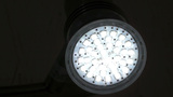 Energy Saving LED Light Flash On and Off Footage