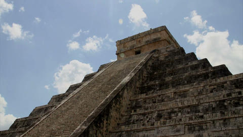 Kukulkan Pyramid at Chichen Itza Footage