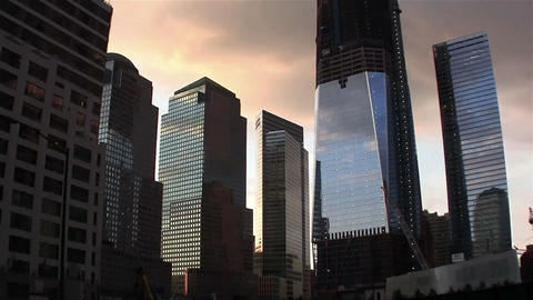 Zoom into One World Trade Center in New York under Footage
