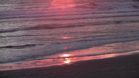 Tilt Up To A Beautiful Sunset Over The Pacific On  stock footage