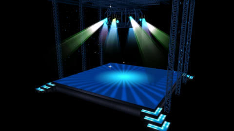 Beautiful stage lighting,spotlights shine & rock... Stock Video Footage