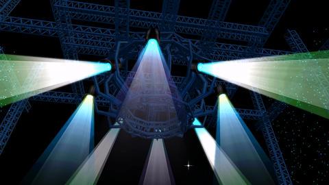 Beautiful stage lighting,spotlights shine & rock… Stock Video Footage