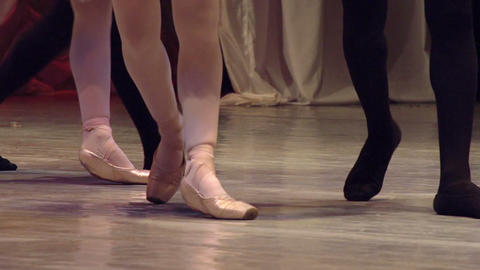 Ballet Couple On Stage stock footage