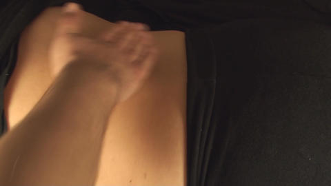 Massaging Women Lower Back, Treatment, Pain, Medic stock footage