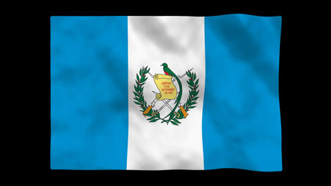 Flag A081 GTM Guatemala Animation